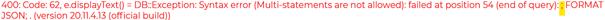 Erreur 400 - Syntax error