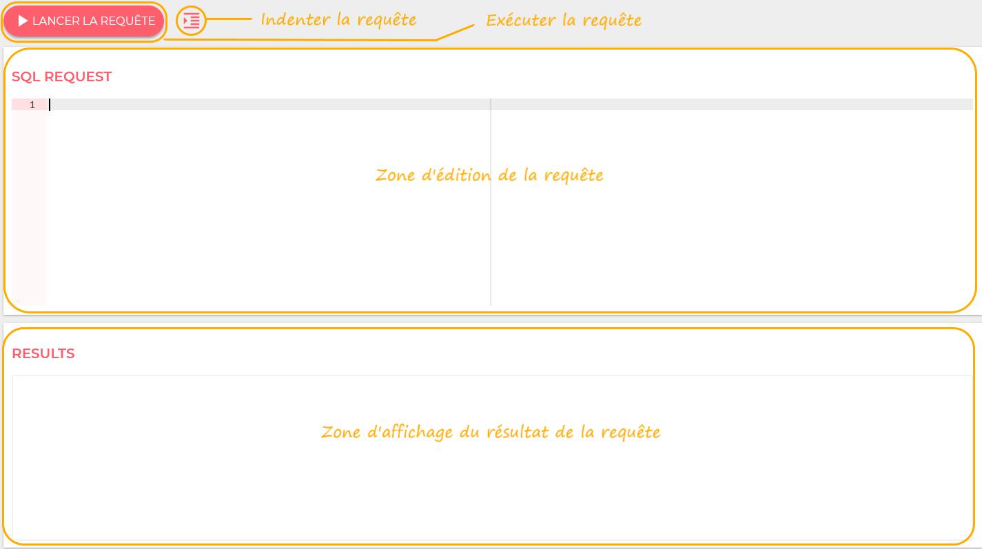 Description interface de requêtage