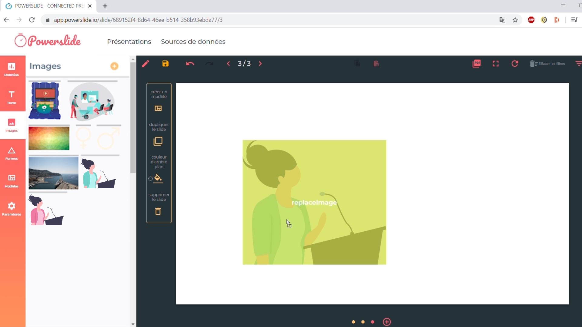 image dans une présentation interactive Powerslide